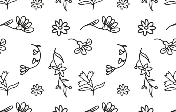 Outline Seamless Floral Pattern Free Download