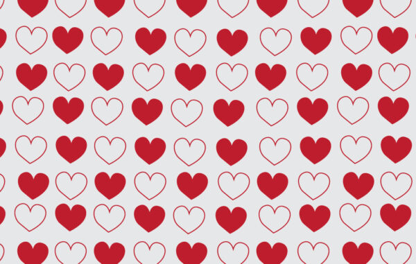 Seamless Pattern Hearts Free Download