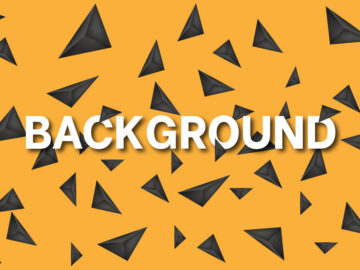 Yellow Background With Black Triangles Free Download