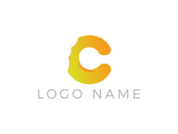 Yellow Letter Logo Design Free Download