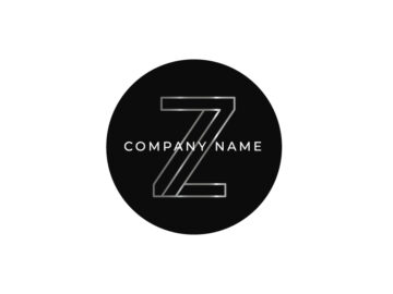 Z Silver Letter Logo Design Free Download