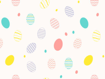 Easter Eggs Seamless Pattern Free Download