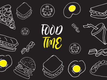 Food Time Background Free Download