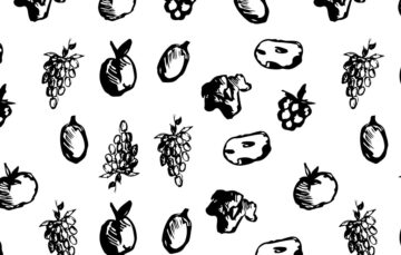 Fruits and Vegetables Seamless Pattern Free Download