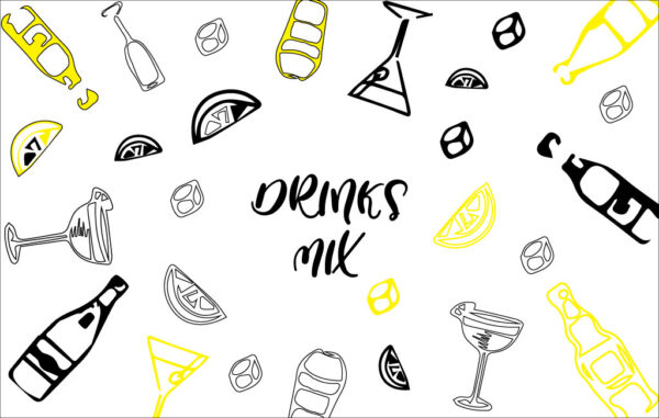 Hand drawn drinks background Free Download