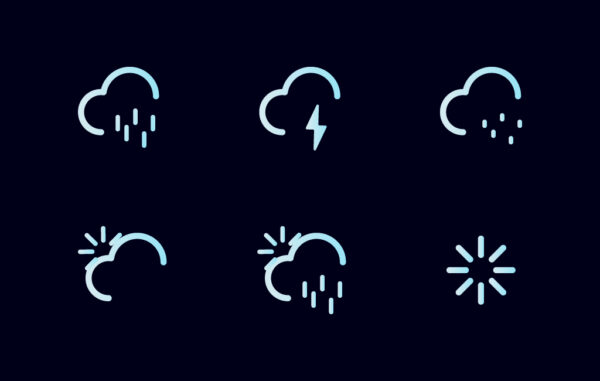 Outline Icons Weather Set Free Download