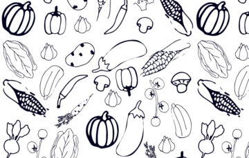 Seamless Pattern With Vegetables Free Download