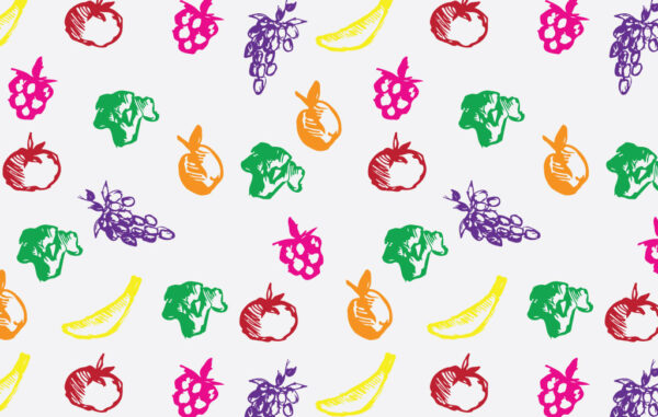Colorful Fruits And Vegetables Pattern Free Download
