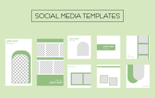 SMM Templates in Green Free Download